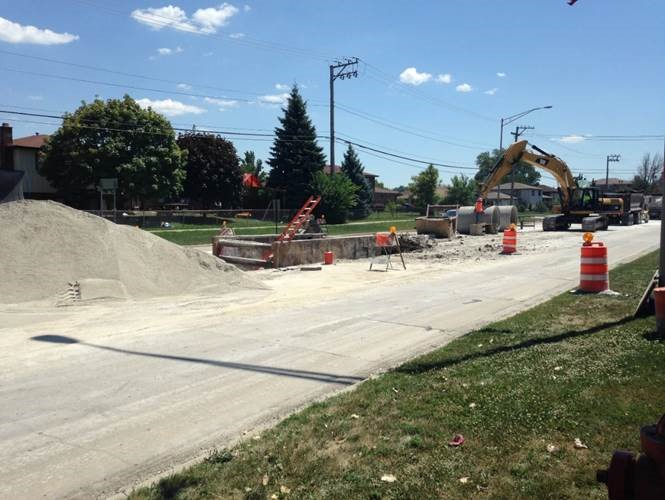 New storm sewer to prevent flooding